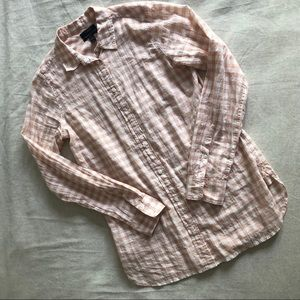 Light Pink Gingham J. Crew Shirt